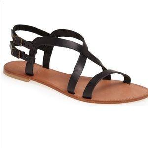 NWOT Joie A La Plage SOCOA blk leather sandals 37